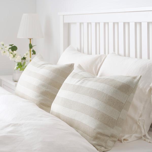 "HEDDAMARIA cushion cover natural/stripe 16 "" 26 """
