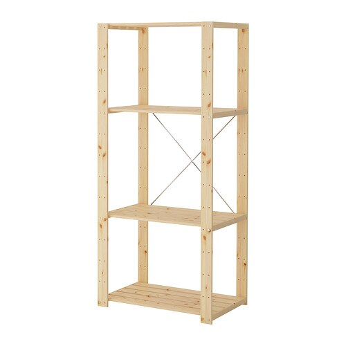 Hejne shelf unit 30 3 4x19 5 8x67 3 8 ikea - Etagere en escalier ikea ...