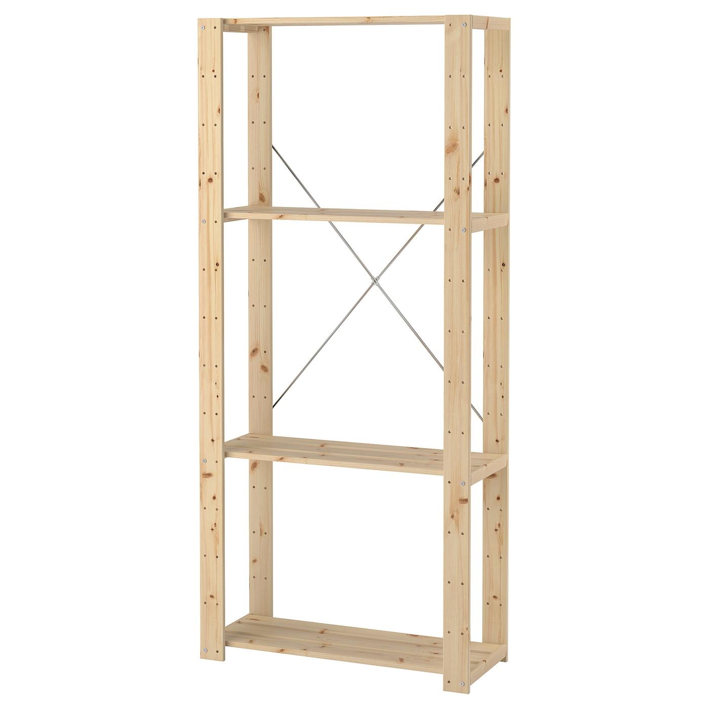 Sensational Hejne Shelf Unit Softwood Download Free Architecture Designs Viewormadebymaigaardcom