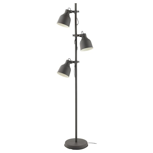 IKEA HEKTAR Floor lamp w/3-spots and led bulbs
