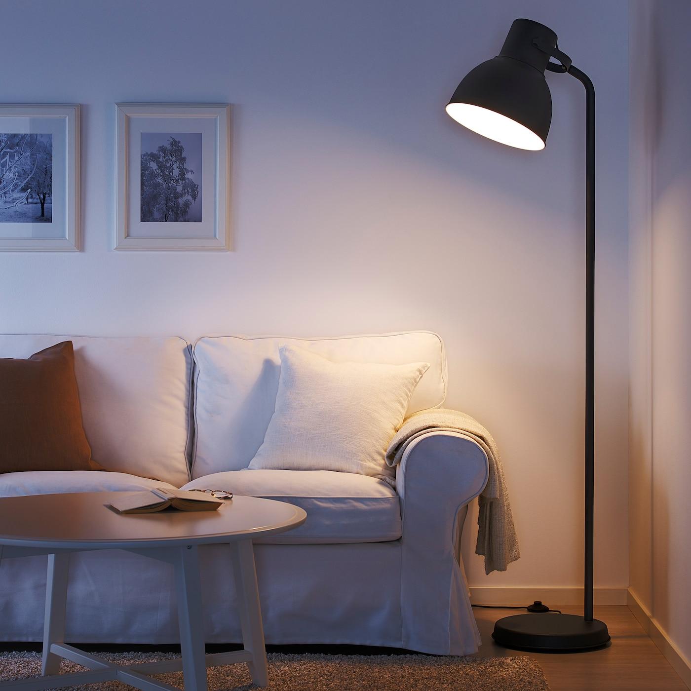 Hektar Floor Lamp With Led Bulb Dark Gray Ikea