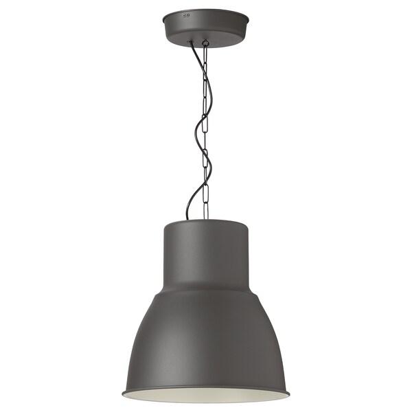 "HEKTAR Pendant lamp, dark gray, 15 """