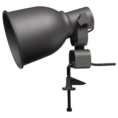 "HEKTAR wall/clamp spotlight with LED bulb dark gray 7 W 8 5/8 "" 4 "" 5 7/8 "" 129 7/8 """