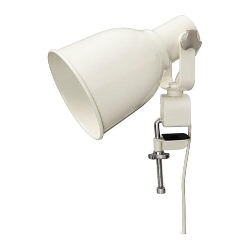HEKTAR Wall/clamp spotlight, white white -