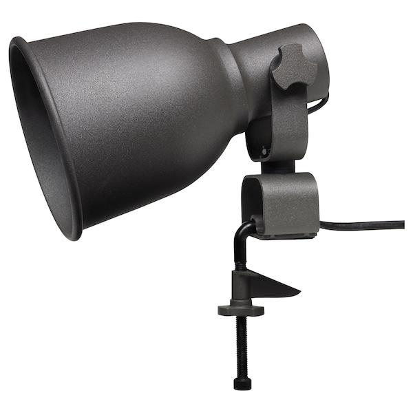 HEKTAR Wall/clamp spotlight with LED bulb, dark gray
