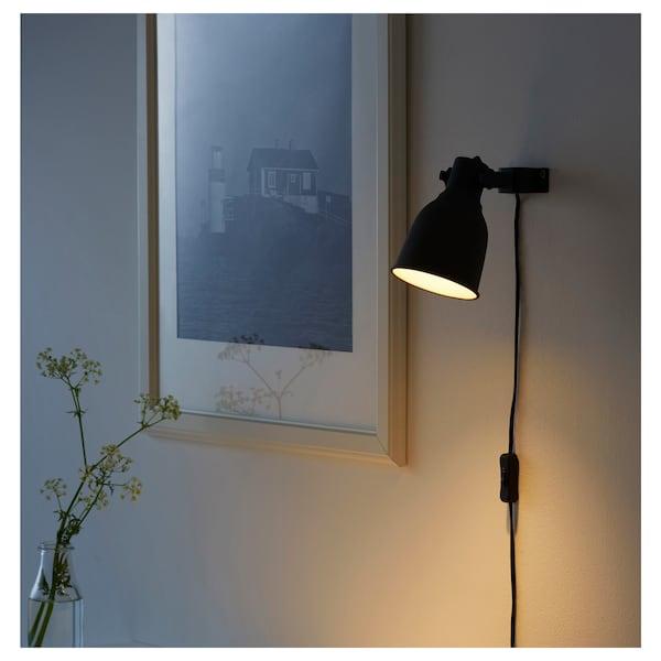 HEKTAR Wall/clamp spotlight - dark gray - IKEA