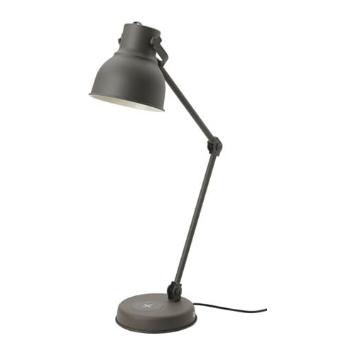 hektar work lamp with wireless charging ikea. Black Bedroom Furniture Sets. Home Design Ideas