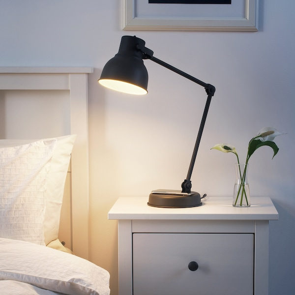 IKEA HEKTAR Work lamp with wireless charging