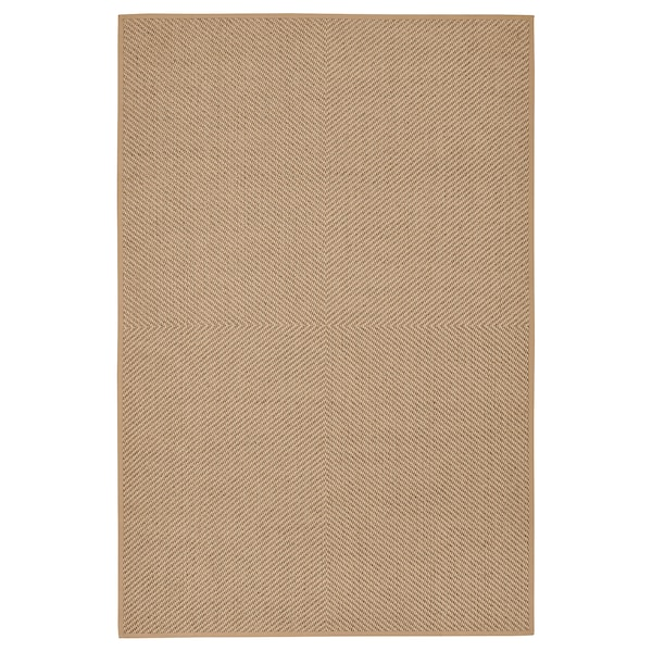 "HELLESTED Rug, flatwoven, natural/brown, 6 ' 7 ""x9 ' 10 """
