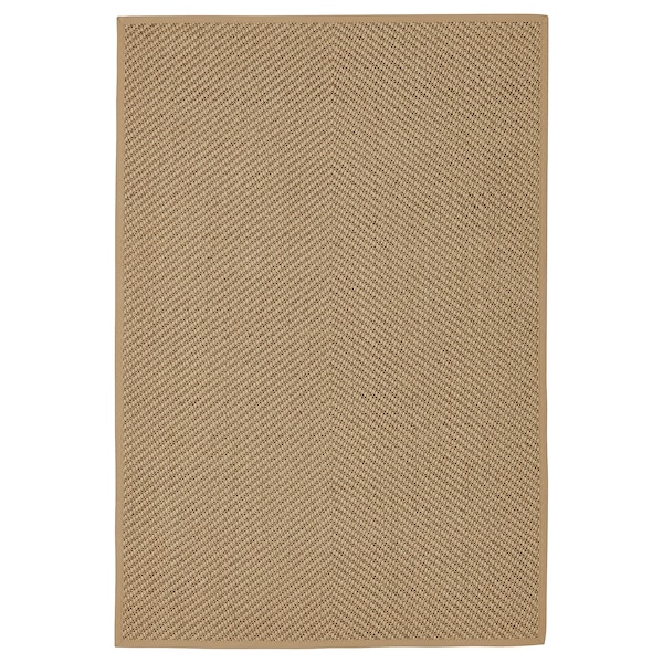 """HELLESTED Rug, flatwoven, natural/brown, 4 ' 4 """"x6 ' 5 """""""