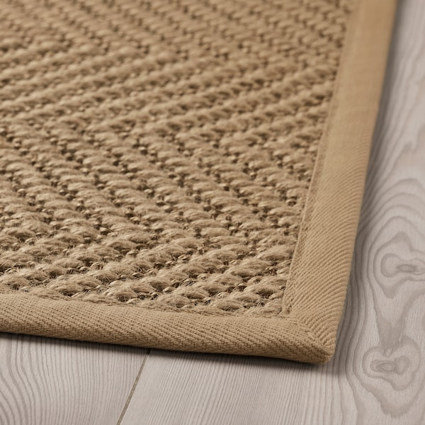 """HELLESTED Rug, flatwoven, natural/brown, 2 ' 7 """"x8 ' 2 """""""