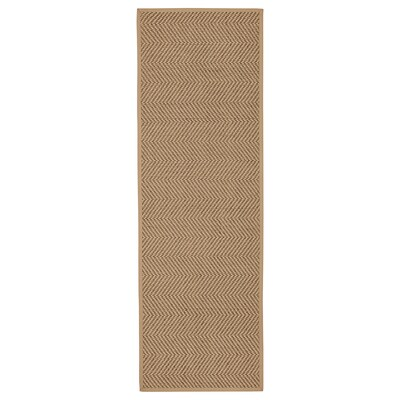 """HELLESTED rug, flatwoven natural/brown 8 ' 2 """" 2 ' 7 """" ¼ """" 21.53 sq feet 8.42 oz/sq ft"""