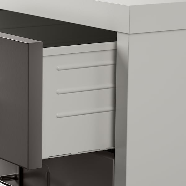 "HELMER Drawer unit on casters, dark gray/light gray, 11x27 1/8 """