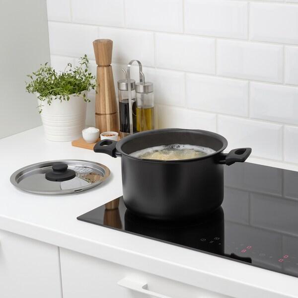 Hemlagad 6 Piece Cookware Set Black Ikea