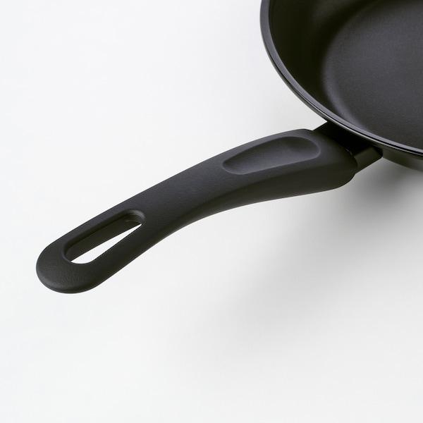"HEMLAGAD Frying pan, black, 9 ½ """
