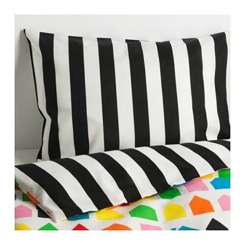 HEMLÄNGTAN Duvet cover and pillowcase(s), multicolor multicolor Twin