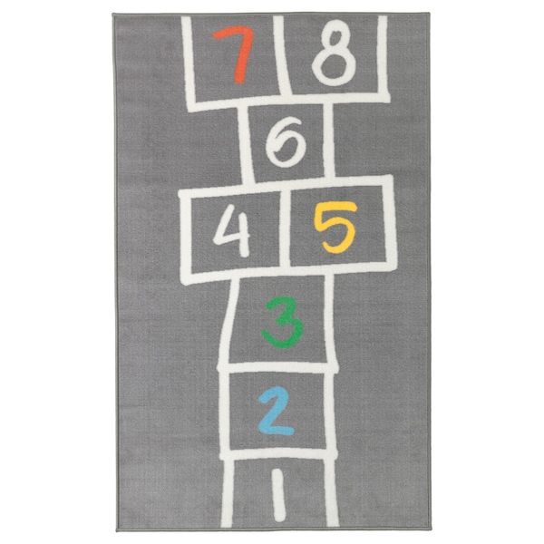 "HEMMAHOS Rug, gray, 39 3/8x63 """