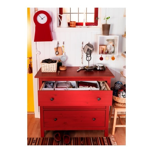 HEMNES 3 drawer chest IKEA Solid wood a hardwearing natural material  Adapted for GARNITYR  Ikeas. Ikea Red Dresser