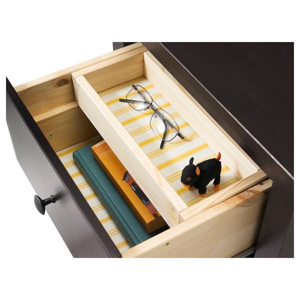 "HEMNES 2-drawer chest, black-brown, 21 1/4x26 """