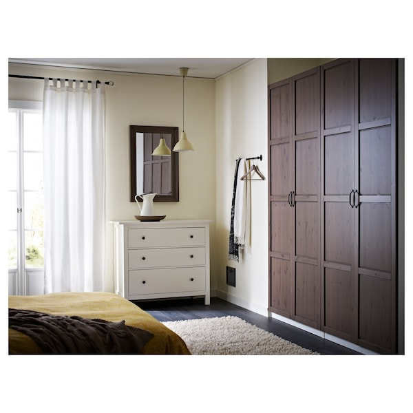 "HEMNES 3-drawer chest, white stain, 42 1/2x37 3/4 """