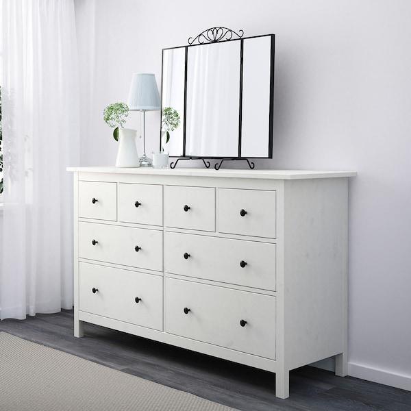"""HEMNES 8-drawer dresser, white stain, 63x37 3/4 """""""