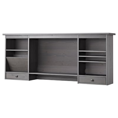 "HEMNES Add-on unit for desk, dark gray stained, 59 7/8X24 3/4 """