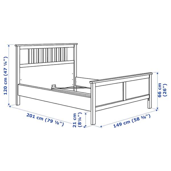 HEMNES Bed frame, black-brown/Luröy, Full