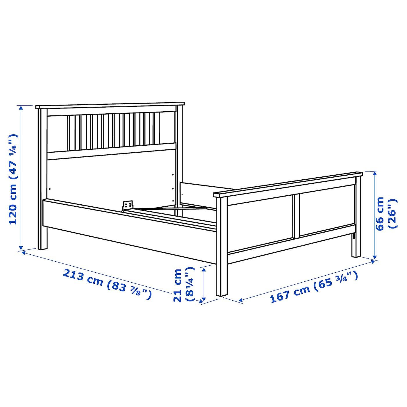 Hemnes Bed Frame Black Brown Queen Ikea