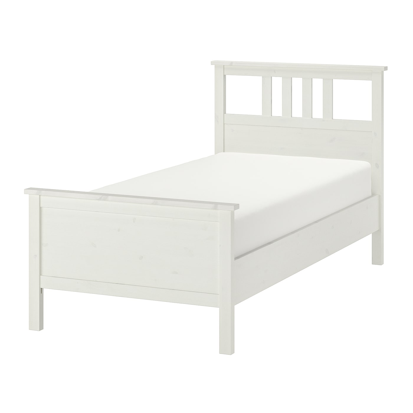 Picture of: Hemnes Bed Frame White Stain Twin Ikea
