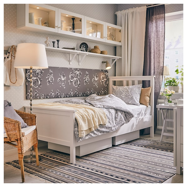 Hemnes Bed Frame White Stain Lonset Twin Ikea