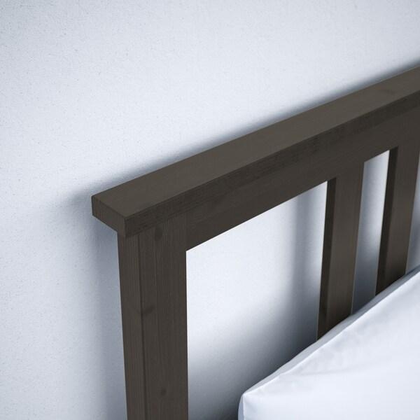 "HEMNES bed frame black-brown 83 7/8 "" 65 3/4 "" 26 "" 47 1/4 "" 79 1/2 "" 59 7/8 """