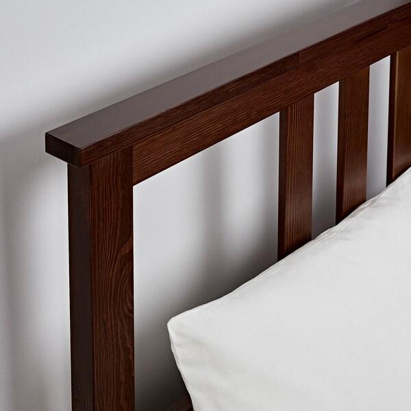 """HEMNES bed frame medium brown/Luröy 83 7/8 """" 65 3/4 """" 26 """" 47 1/4 """" 79 1/2 """" 59 7/8 """""""
