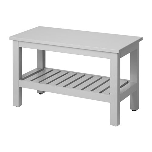 Hemnes bench gray ikea for Ikea hemnes grau