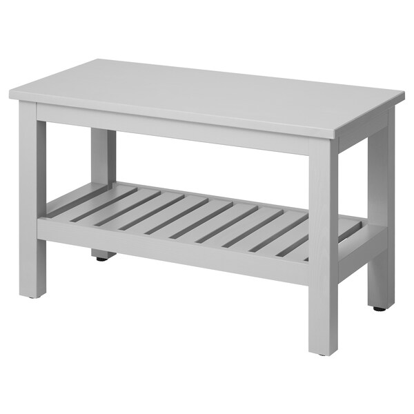 "HEMNES bench gray 32 5/8 "" 14 5/8 "" 20 7/8 "" 220 lb"