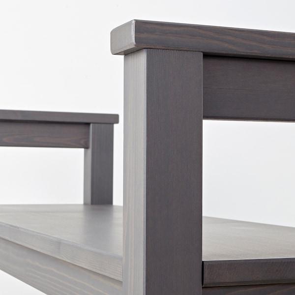 "HEMNES Bench with shoe storage, dark gray stained, 33 1/2x12 5/8x25 5/8 """
