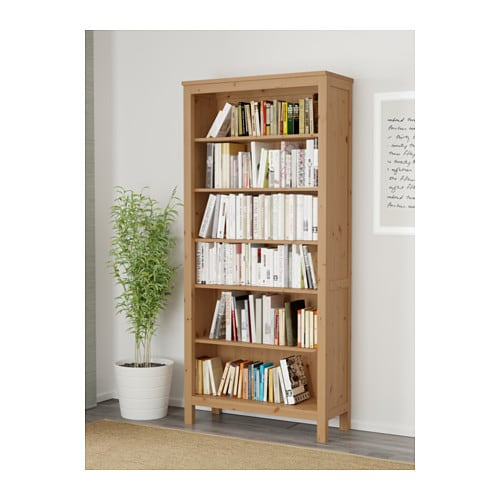 - HEMNES Bookcase - Black-brown - IKEA