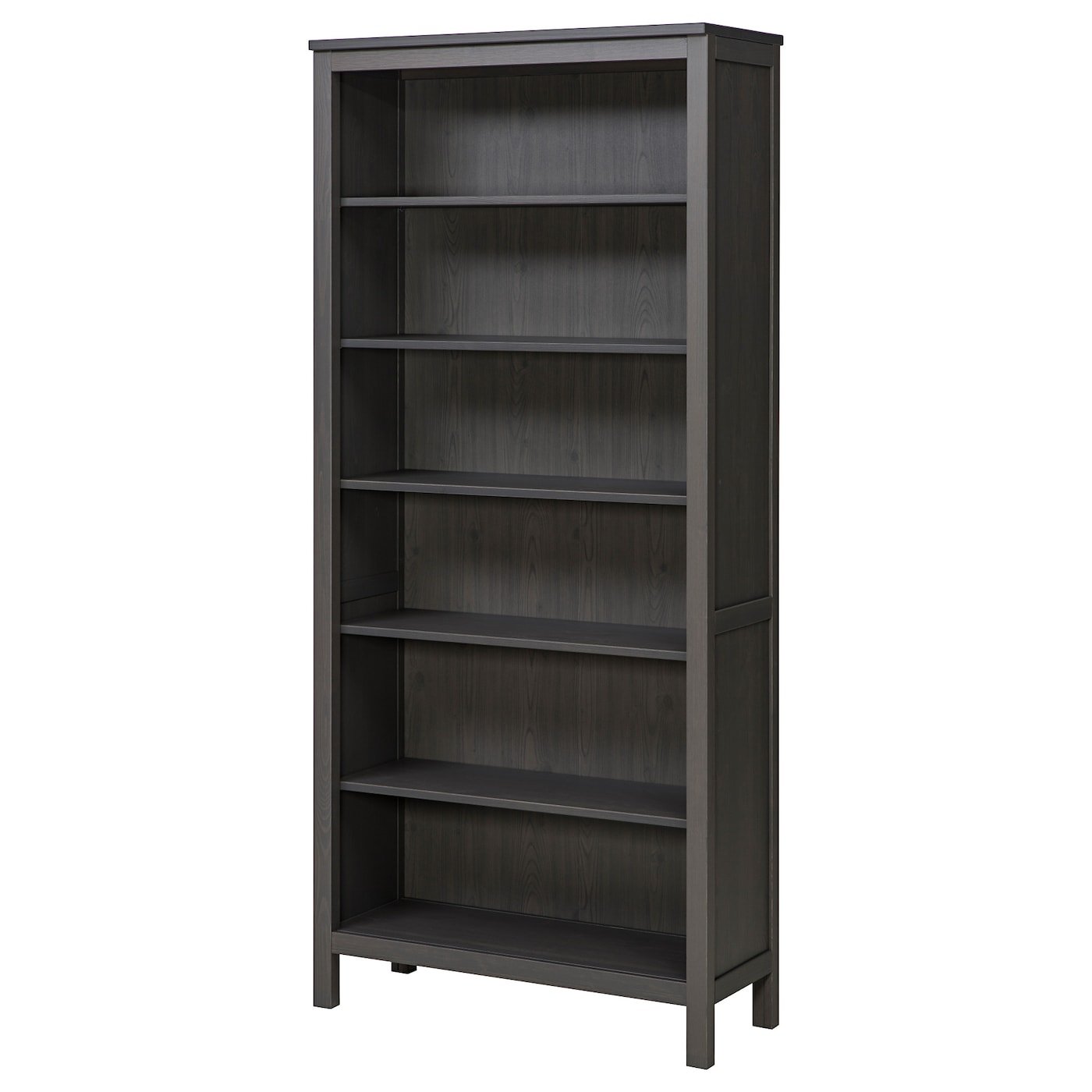Bookcase Hemnes Dark Gray Stained