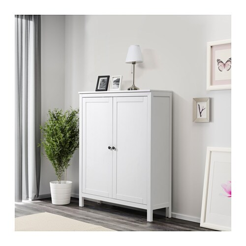 hemnes cabinet with 2 doors - black-brown - ikea