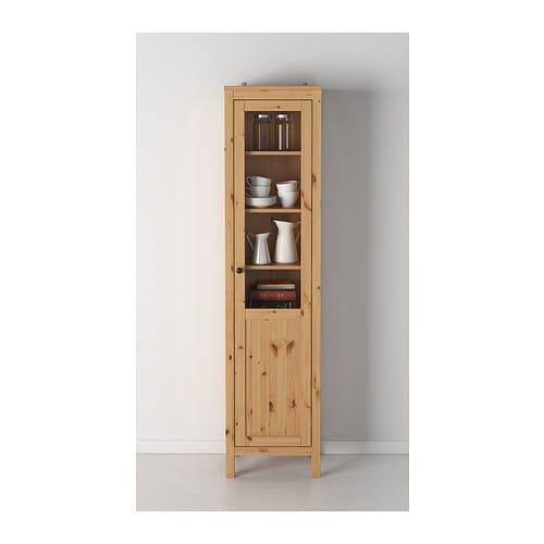 Hemnes Cabinet With Panelglass Door Black Brown Ikea