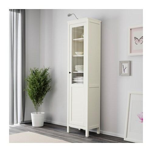 Hemnes Cabinet With Panelglass Door White Stain Ikea