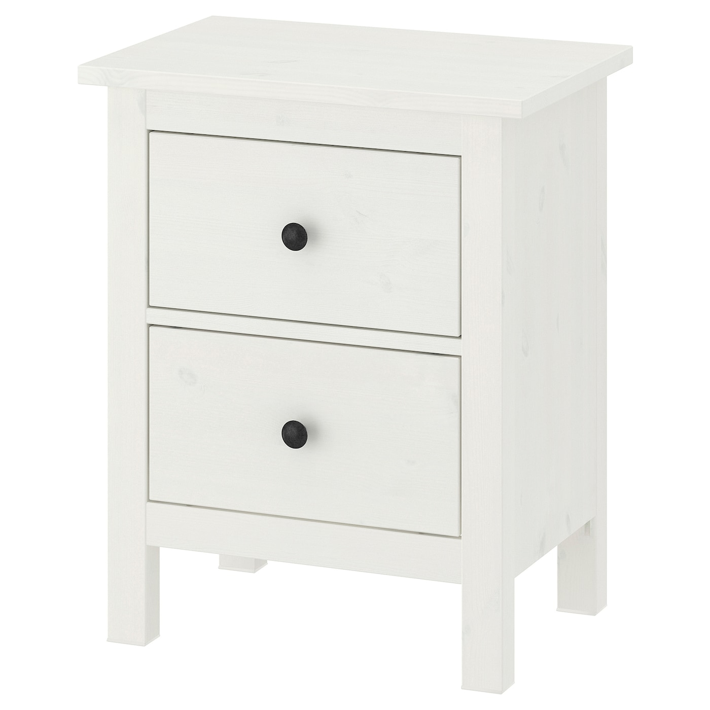 2 Drawer Chest Hemnes White Stain