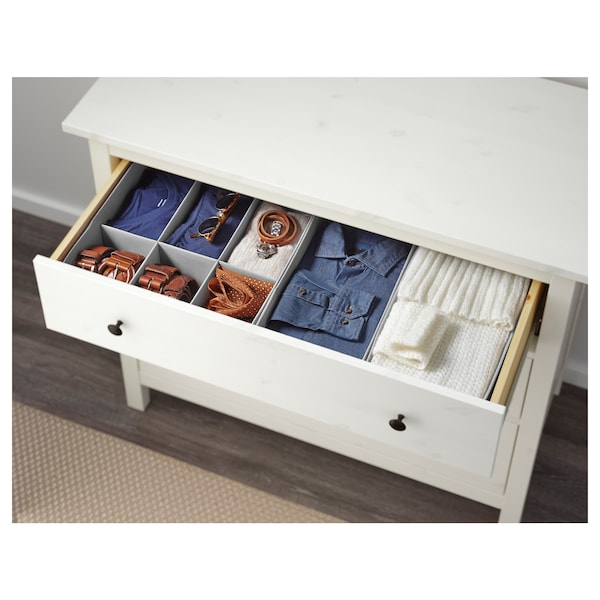 3 Drawer Chest Hemnes White Stain