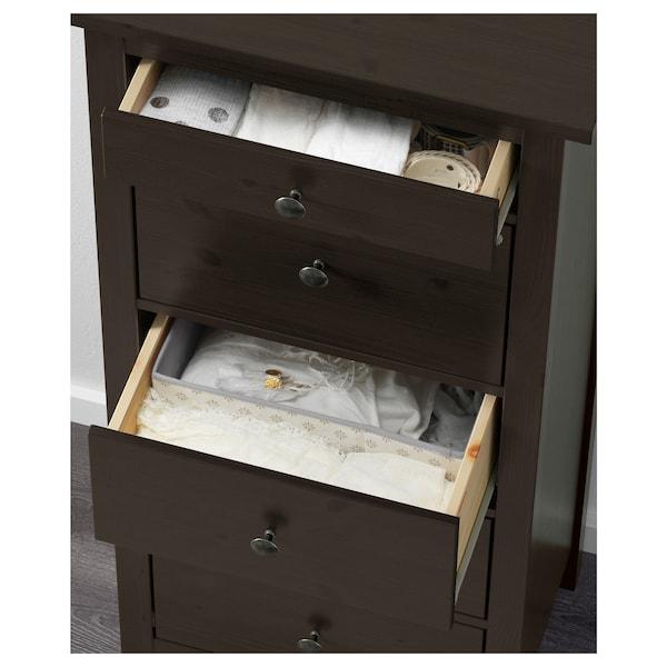"HEMNES 5-drawer chest black-brown 22 7/8 "" 15 3/4 "" 51 5/8 """