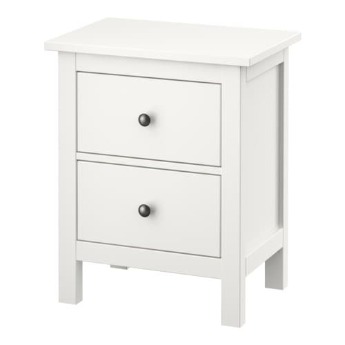 HEMNES Chest with 2 drawers IKEA Extra roomy drawers.  Smooth running drawers with pull-out stop.