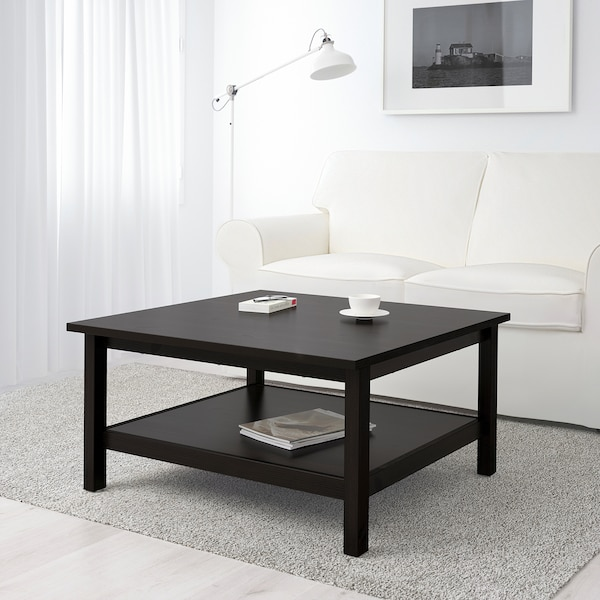 HEMNES Coffee table, black-brown, 35 3/8x35 3/8 ""