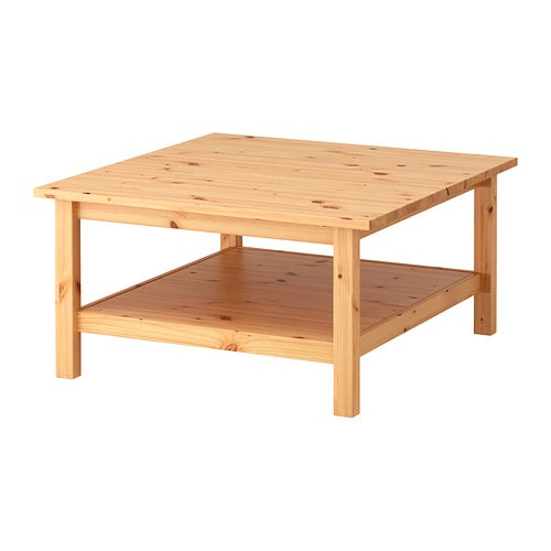 HEMNES Coffee table IKEA Solid wood has a natural feel.