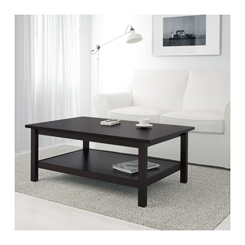 Hemnes Coffee Table Ikea Solid Wood Has A Natural Feel Separate Shelf For Magazines
