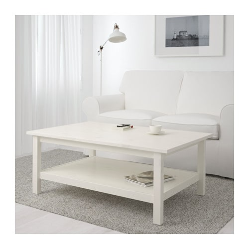 HEMNES Coffee Table IKEA Solid Wood Has A Natural Feel. Separate Shelf For  Magazines,