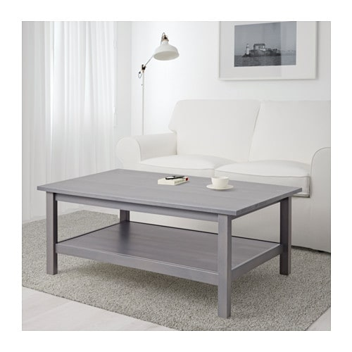 Hemnes Coffee Table Light Brown 118x75 Cm: HEMNES Coffee Table, Dark Gray Gray Stained