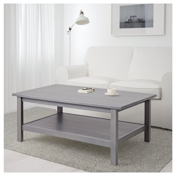 "HEMNES coffee table dark gray stained 46 1/2 "" 29 1/2 "" 18 1/8 """